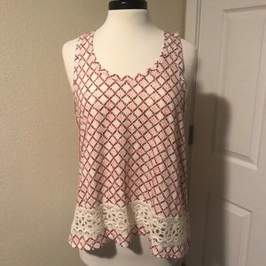 LOFT Crochet Embellished Hi Lo Tank